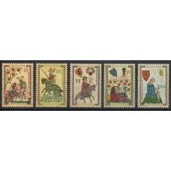 Liechtenstein - 1961- No 359/363 - Histoire