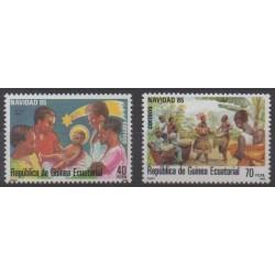 Guinée équatoriale - 1985 - No 204/205 - Noël
