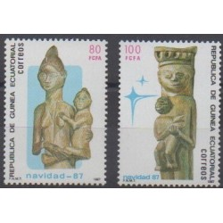 Equatorial Guinea - 1987 - Nb 229/230 - Art - Christmas