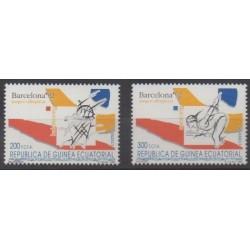 Guinée équatoriale - 1992 - No 280/281 - Jeux Olympiques d'été