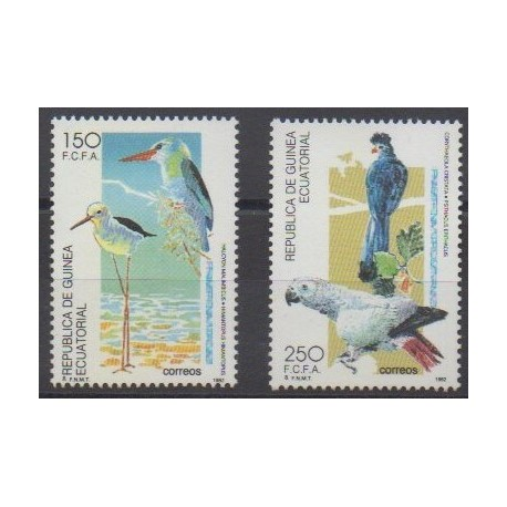 Equatorial Guinea - 1992 - Nb 282/283 - Birds