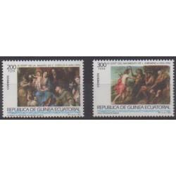 Guinée équatoriale - 1993 - No 290/291 - Peinture