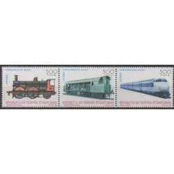 Equatorial Guinea - 1995 - Nb 322/324 - Trains