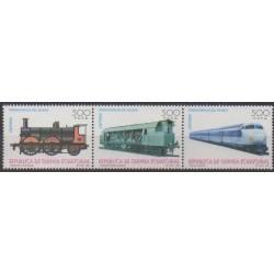Guinée équatoriale - 1995 - No 322/324 - Chemins de fer