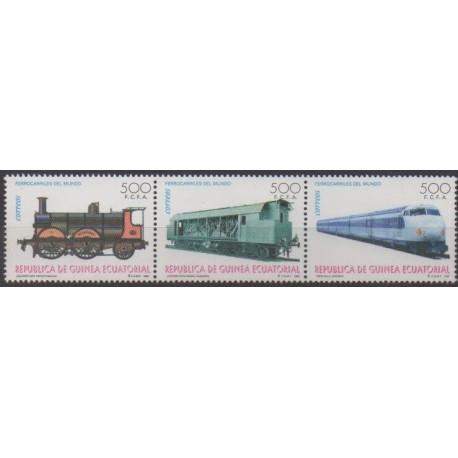 Equatorial Guinea - 1995 - Nb 322/324 - Trains