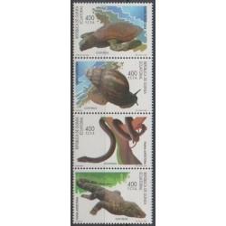 Equatorial Guinea - 1997 - Nb 356A/356D - Reptils