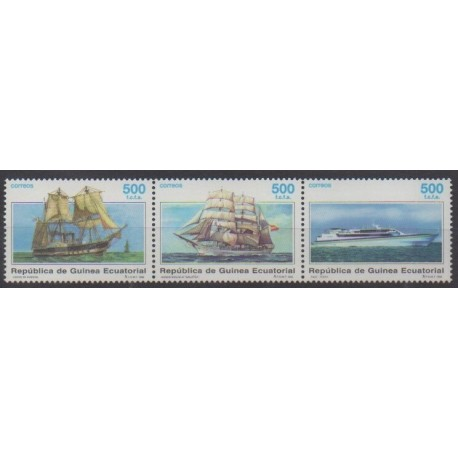 Equatorial Guinea - 1996 - Nb 343/345 - Boats