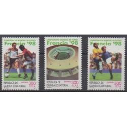Guinée équatoriale - 1998 - No 357/359 - Coupe du monde de football