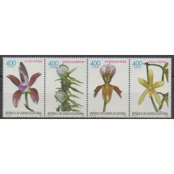 Guinée équatoriale - 1998 - No 381/384 - Orchidées