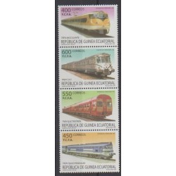 Equatorial Guinea - 2005 - Nb 481/484 - Trains