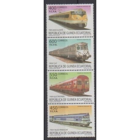 Equatorial Guinea - 2005 - Nb 481/484 - Trains