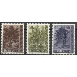 Liechtenstein - 1958- No 333/335 - Arbres
