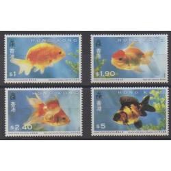 Hong Kong - 1993 - Nb 731/734 - Sea life
