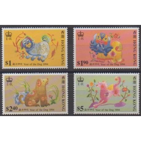 Hong Kong - 1994 - Nb 735/738 - Horoscope