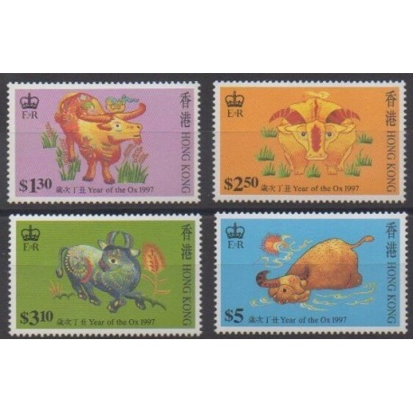 Hong Kong - 1997 - Nb 810/813 - Horoscope