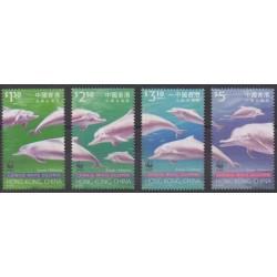 Hong-Kong - 1999 - No 924/927 - Mammifères - Espèces menacées - WWF