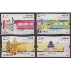 Hong-Kong - 2002 - No 1015/1018 - Chemins de fer