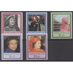 Hong-Kong - 1986 - No 474/478 - Royauté - Principauté