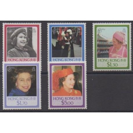 Hong Kong - 1986 - Nb 474/478 - Royalty