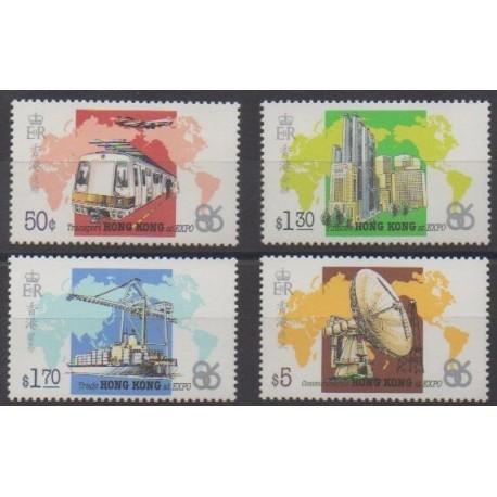 Hong Kong - 1986 - Nb 479/482 - Exhibition