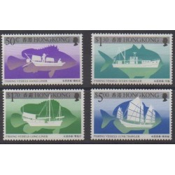 Hong Kong - 1986 - Nb 483/486 - Boats