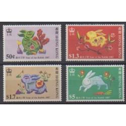 Hong-Kong - 1987 - No 491/494 - Horoscope
