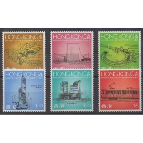 Hong Kong - 1989 - Nb 580/585 - Monuments