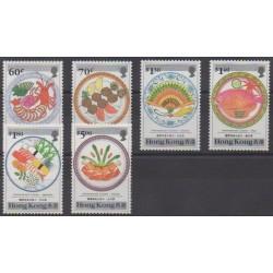 Hong Kong - 1990 - Nb 594/599 - Gastronomy