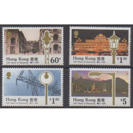 Hong Kong - 1990 - Nb 620/623 - Science