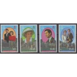 Hong-Kong - 1989 - No 586/589 - Royauté - Principauté