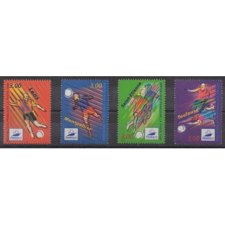 France - Poste - 1996 - Nb 3010/3013 - Soccer World Cup