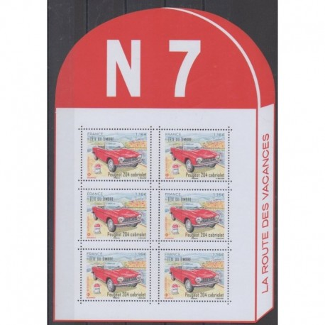 France - Blocks and sheets - 2020 - Nb F5429 - Cars - Peugeot 204 cabriolet