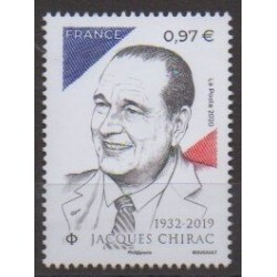 France - Poste - 2020 - Nb 5428 - Celebrities- Jacques Chirac