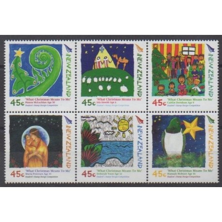 New Zealand - 2006 - Nb 2279/2284 - Christmas - Children's drawings