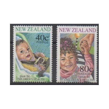New Zealand - 1996 - Nb 1467/1468 - Health - Childhood