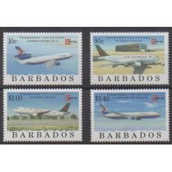 Barbados - 1996 - Nb 941/944 - Planes