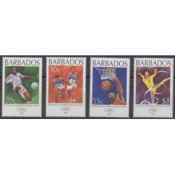Barbade - 1996 - No 928/931 - Jeux Olympiques d'été