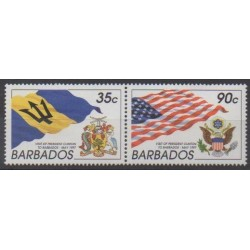 Barbados - 1997 - Nb 960/961 - Coats of arms - Flags