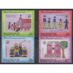 Barbade - 1996 - No 952/955 - Dessins d'enfants - Noël