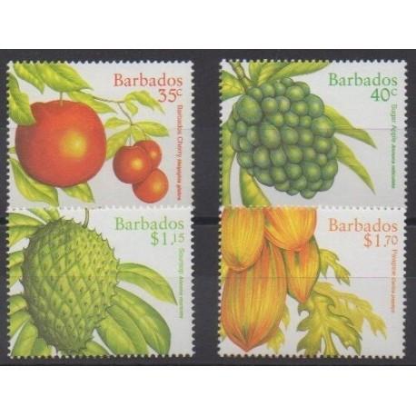 Barbados - 1997 - Nb 970/973 - Fruits or vegetables