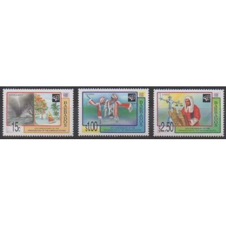 Barbados - 1998 - Nb 983/985 - Various Historics Themes