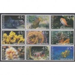 Barbade - 2001 - No 1043/1051 - Vie marine