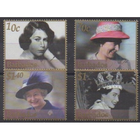 Barbados - 2002 - Nb 1064/1067 - Royalty