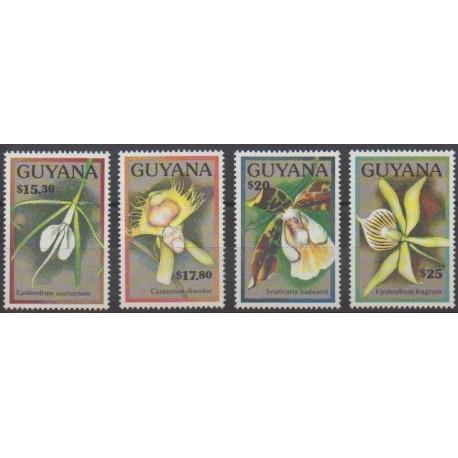 Guyana - 1990 - Nb 2341/2344 - Orchids