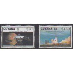 Guyana - 1992 - Nb 2808/2809 - Space