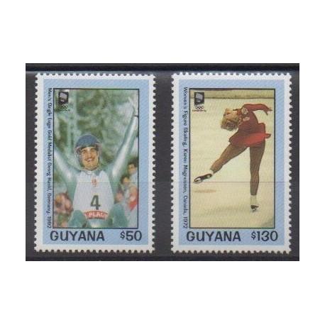 Guyana - 1993 - Nb 2989/2990 - Winter Olympics