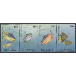 Guyana - 1995 - Nb 3800/3803 - Sea life