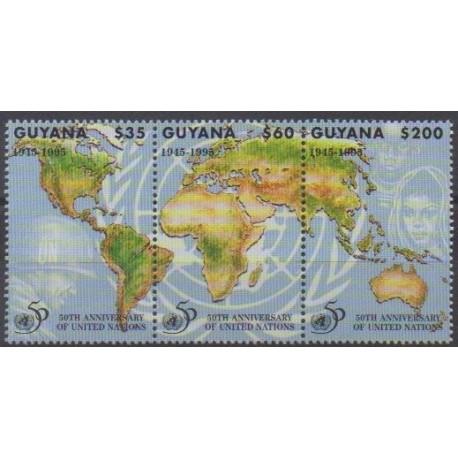 Guyana - 1995 - Nb 3752/3754 - United Nations