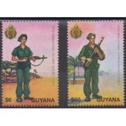 Guyana - 1995 - Nb 3884/3885 - Military history