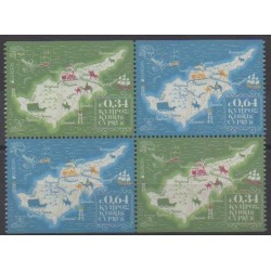 Chypre - 2020 - No 1445a et b/1446a et b - Service postal - Europa